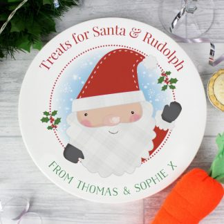 Personalised Santa Claus Mince Pie Plate