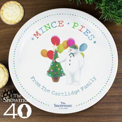 Personalised The Snowman Festive Fun Mince Pie Plate