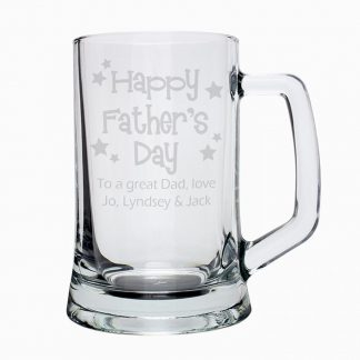 Personalised Father's Day Stern Pint Tankard