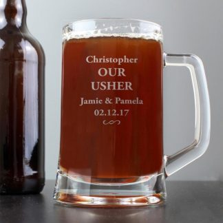 Personalised Decorative Swirl Stern Half Pint Tankard