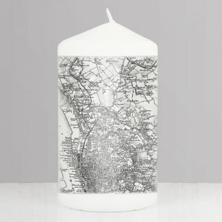 Personalised 1805 to 1874 UK Postcode Map Candle