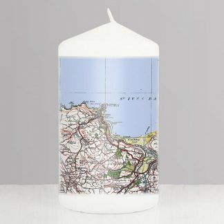 Personalised 1919 to 1926 UK Postcode Map Candle