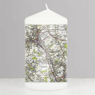 Personalised 1945 to 1948 UK Postcode Map Candle