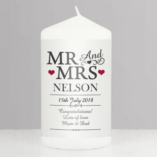 Personalised Mr & Mrs Candle