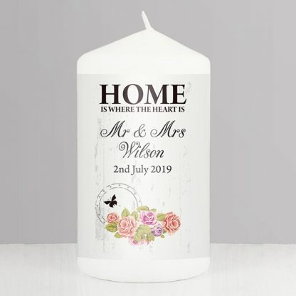 Personalised Shabby Chic Home Candle