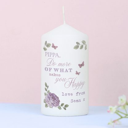 Personalised Secret Garden Candle