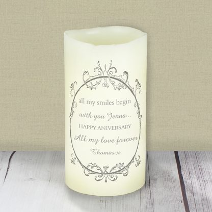 Personalised Ornate Frame LED Flameless Candle