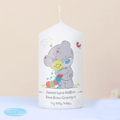 Personalised Tiny Tatty Teddy Cuddle Bug Candle