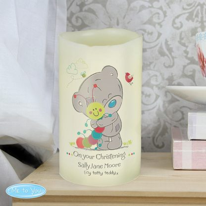 Personalised Tiny Tatty Teddy Cuddle Bug LED Flamesless Candle