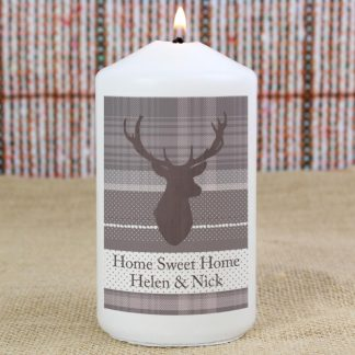 Personalised Highland Stag Candle