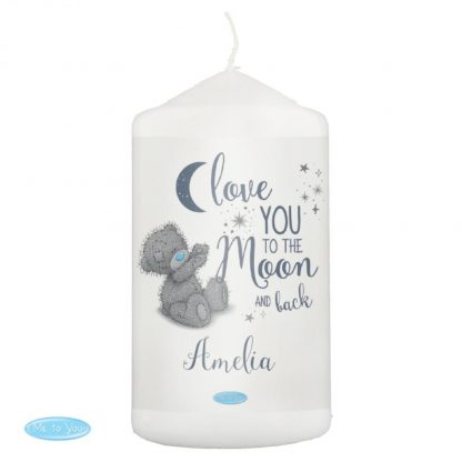 Personalised Me to You 'Love You to the Moon and Back' Pillar Candle