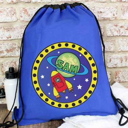 Personalised Blue Space Swim Bag