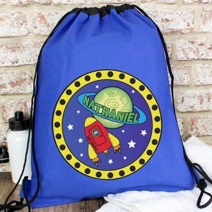 Personalised Blue Space Swim & Kit Bag