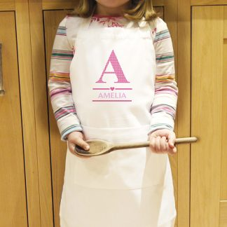 Personalised Girls Initial Kids Apron