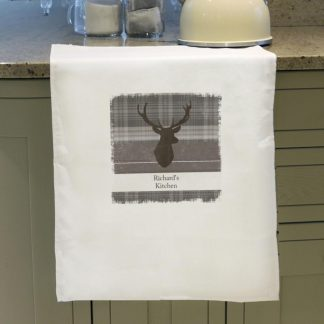 Personalised Highland Stag Tea Towel
