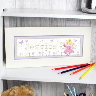 Personalised Garden Fairy Name Frame