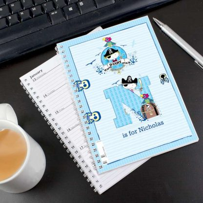 Personalised Pirate A5 Diary
