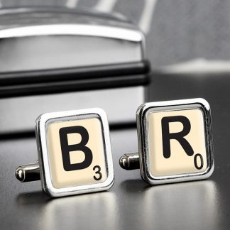 Personalised Scrabble Initials & Age Cufflinks