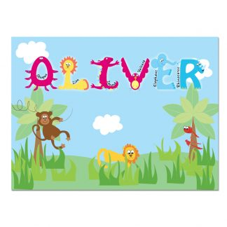 Personalised Childrens Animal Alphabet Placemat