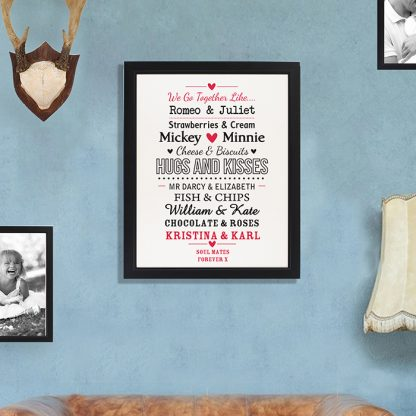 Personalised Couples Framed Print