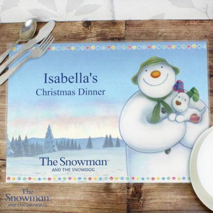 Personalised The Snowman & The Snowdog Placemat