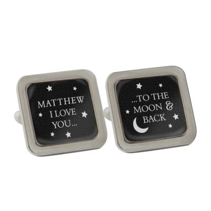 Personalised To the Moon and Back Cufflinks