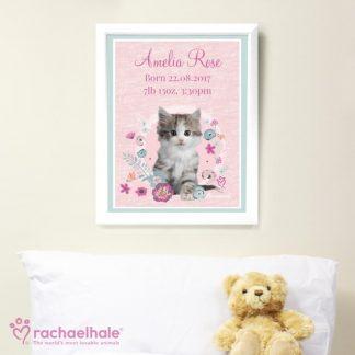 Personalised Rachael Hale Cute Kitten Poster Frame