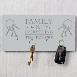 Personalised Family Key Hooks
