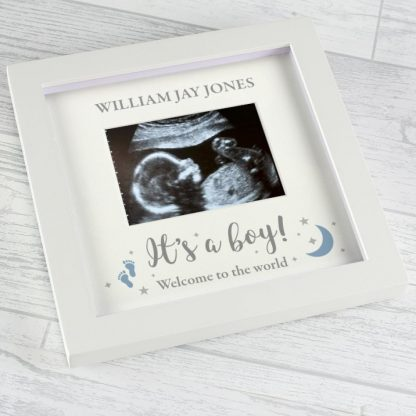Personalised 'It's A Boy' 4 x 3 Baby Scan Frame