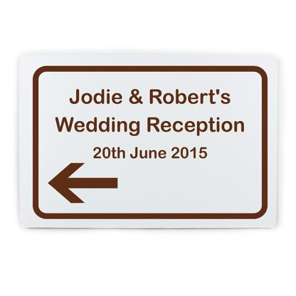 Personalised Left Pointing Tourist Information Sign
