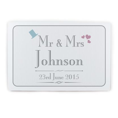 Personalised Decorative Wedding Mr & Mrs Metal Sign