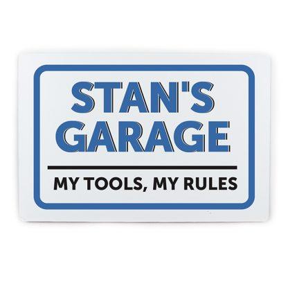 Personalised Garage Metal Sign