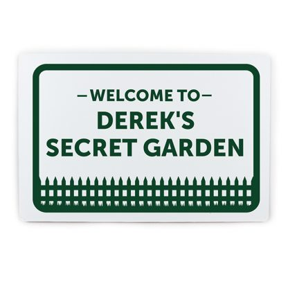 Personalised Garden Welcome Metal Sign