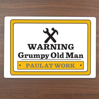 Personalised Man at Work Metal Sign