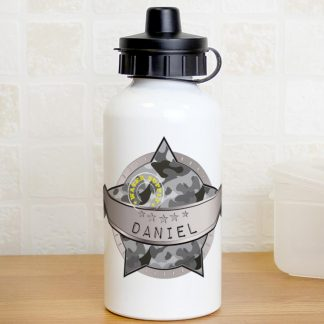 Personalised Army Camo Water Bottle
