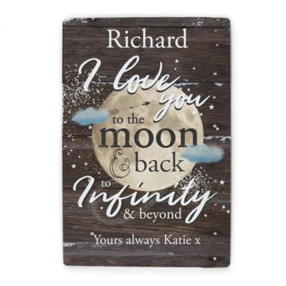 Personalised To the Moon & Infinity... Metal Sign