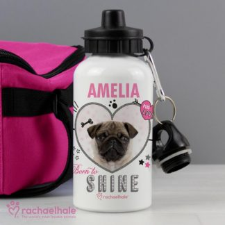 Personalised Rachael Hale Doodle Pug Drinks Bottle