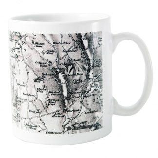 Personalised 1805 to 1874 Old Series UK Map Mug