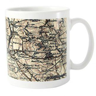 Personalised 1896 to 1904 UK Postcode Map Mug