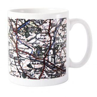 Personalised 1919 to 1926 UK Postcode Map Mug