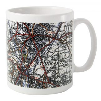 Personalised 1945 to 1948 UK Postcode Map Mug