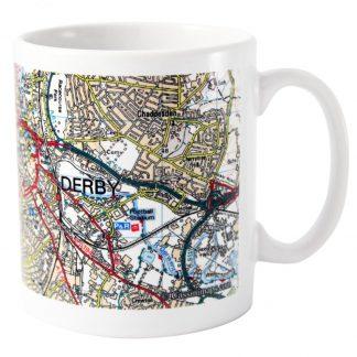 Personalised Present Day UK Postcode Map Mug