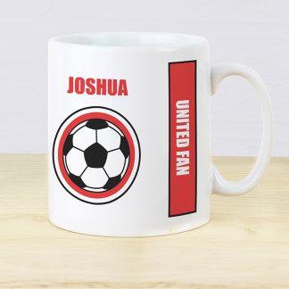 Personalised Red Football Fan Mug