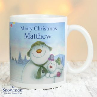 Personalised The Snowman & The Snowdog Mug