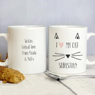 Personalised Cat Whiskers Mug