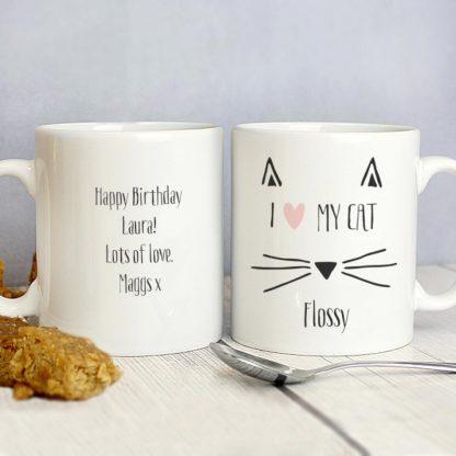 Personalised Cat Whiskers Mug
