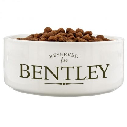 Personalised Reserved For 16cm Ceramic White Pet Bowl