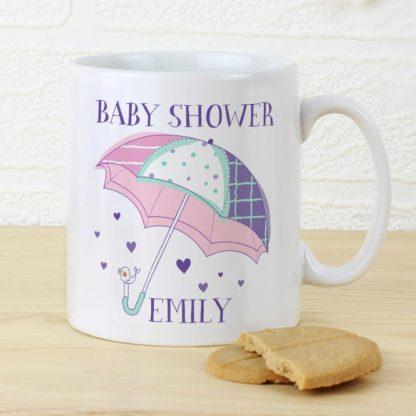 Personalised Baby Shower Umbrella Mug