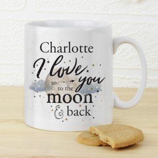 Personalised To the Moon & Infinity... Mug