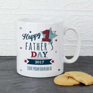 Personalised 1st Fathers Day Mug